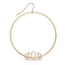 Zad Gold Lotus Circle Earring