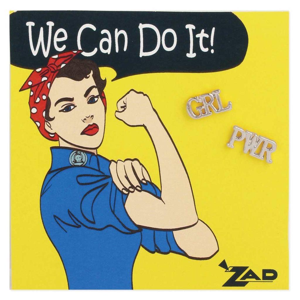 Zad Girl Power Post Earrings