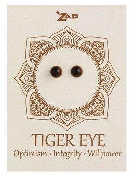 Tiger Eye Round Post Earring
