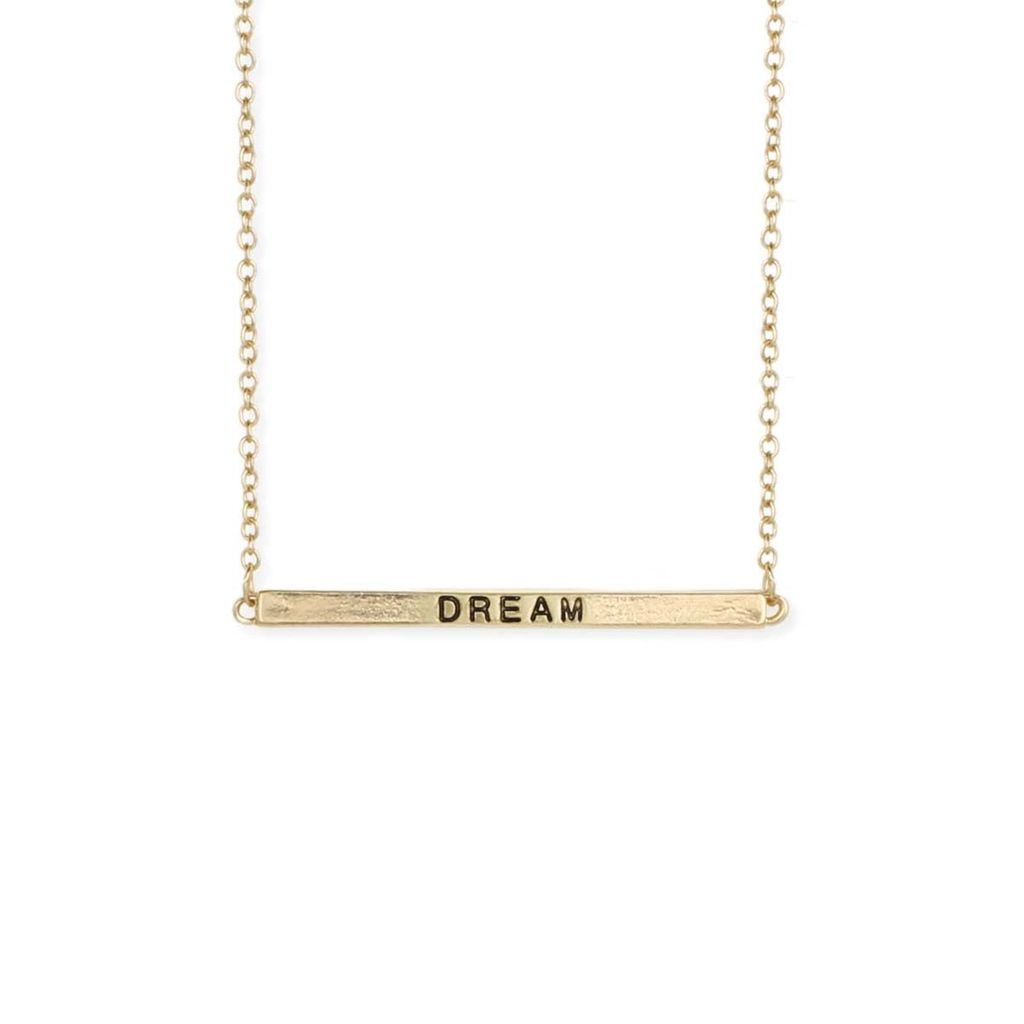 "Gypsy Chic ""Dream"" Hidden Message Gold Plated Necklace"