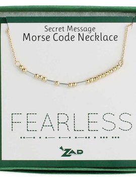 "Gypsy Chic ""Fearless"" Morse Code Necklace"