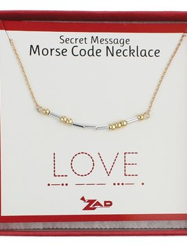 "Gypsy Chic ""Love"" Morse Code Necklace"