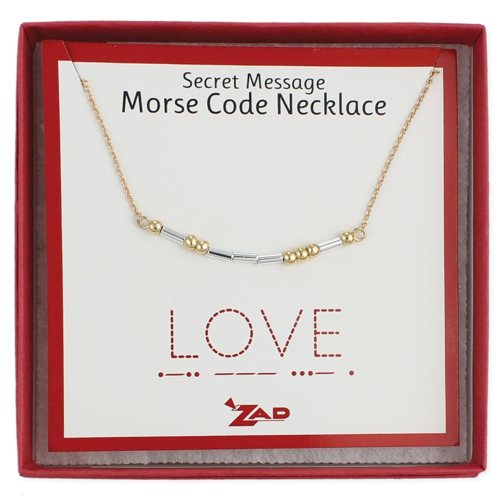 "Gypsy Chic ""Love"" Morse Code Necklace"