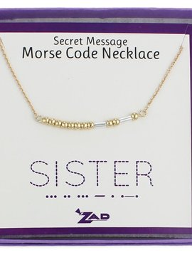 "Gypsy Chic ""Sister"" Morse Code Necklace"