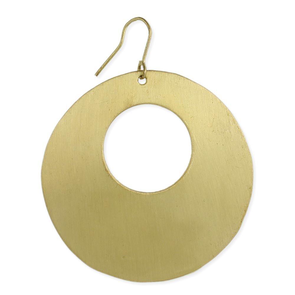 Zad Brushed Gold Cutout Earrings