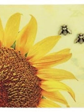 Zad Gold Plated Bee Post Earrings