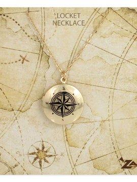 Gypsy Chic Gold Compass Locket