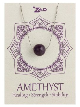 Gypsy Chic Amethyst Bead Necklace