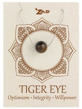 Gypsy Chic Tiger Eye Bead Silver Necklace