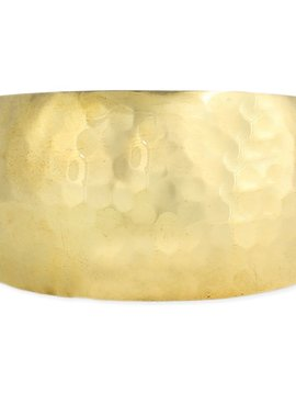 Zad Essential Gold Plated Hammered Cuff