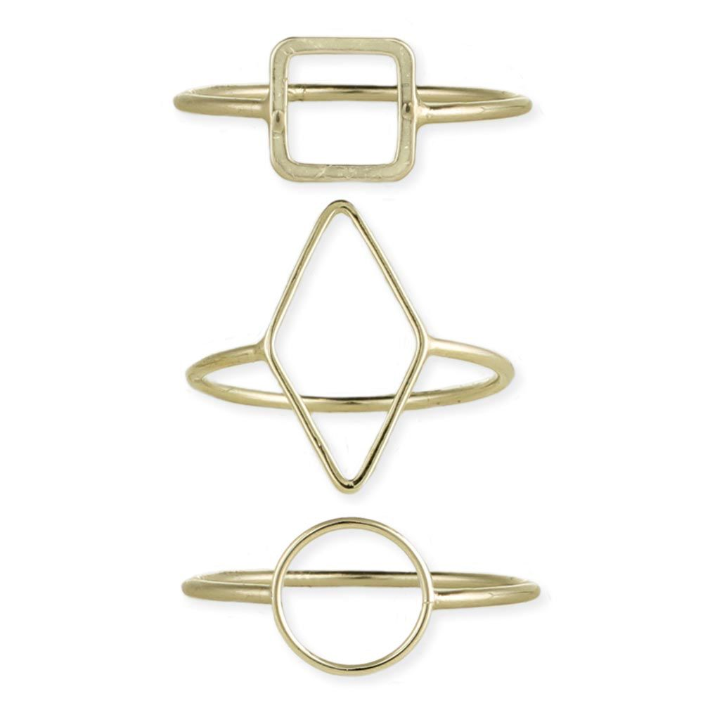 Gypsy Chic Gold Plated Square Ring