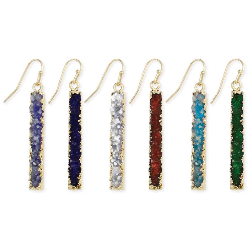 Gypsy Chic Bottle of Druzzy Earrings