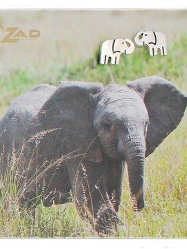 Zad Elephant Post Earrings