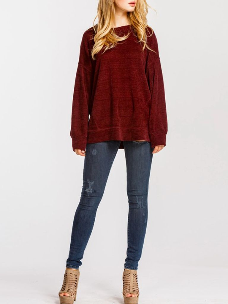 GCBLove Chenille Gather Sweater