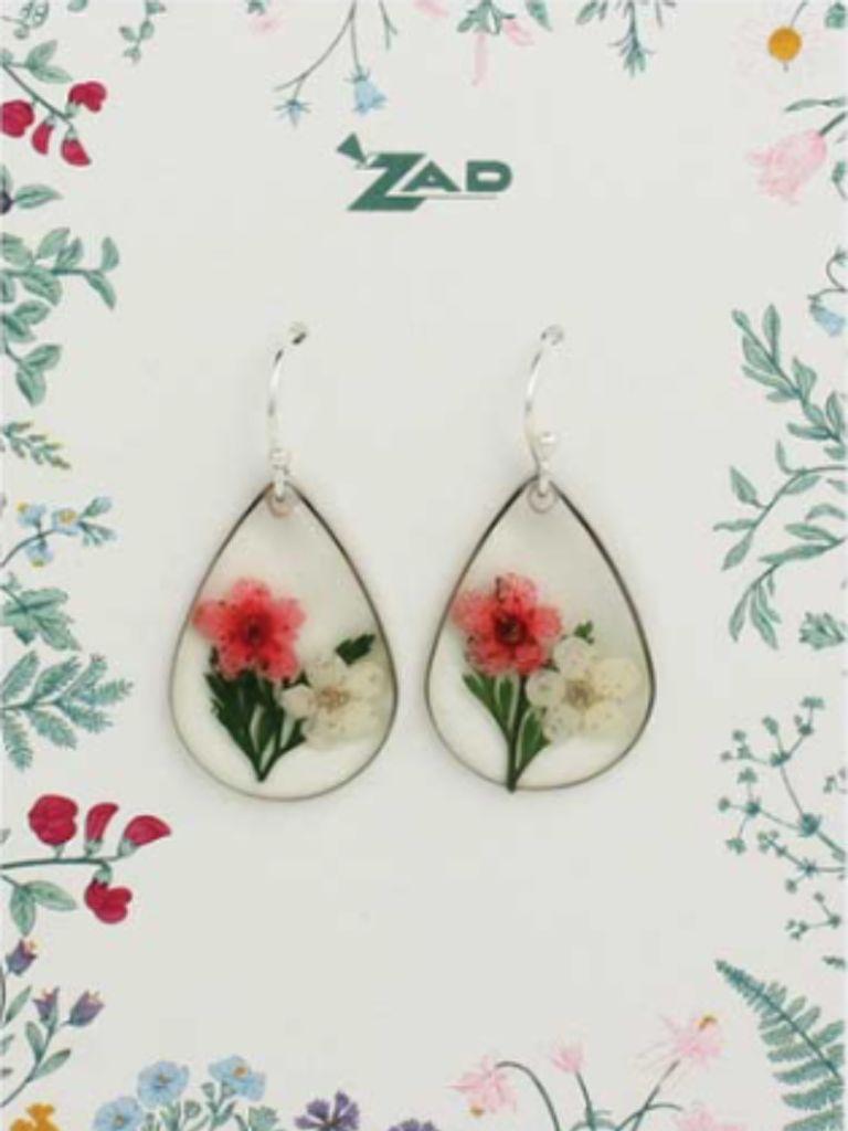 GCBLove Red Pressed Flower Earrings