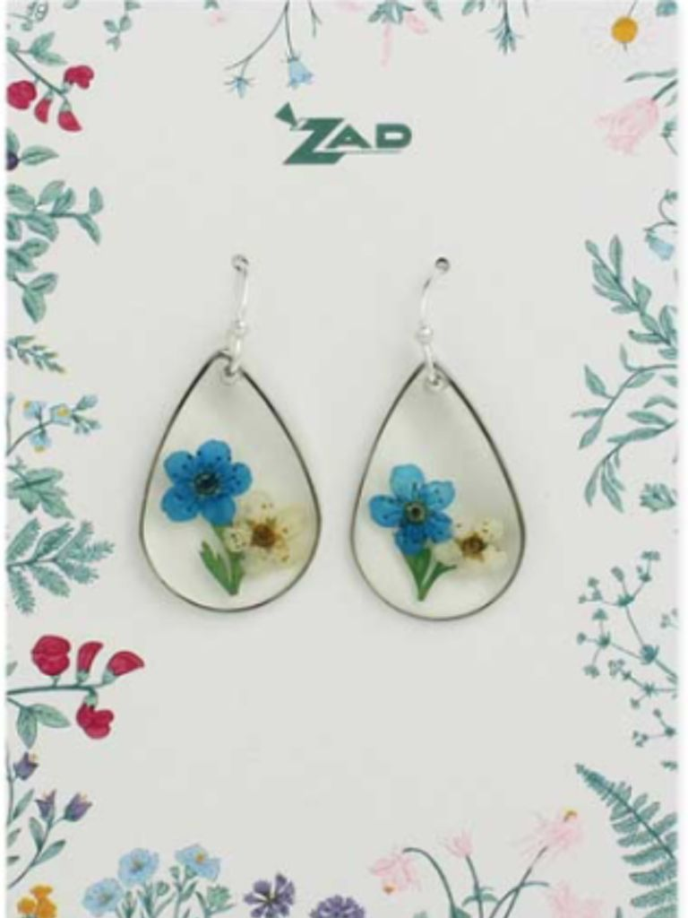 GCBLove Blue Pressed Flower Earrings