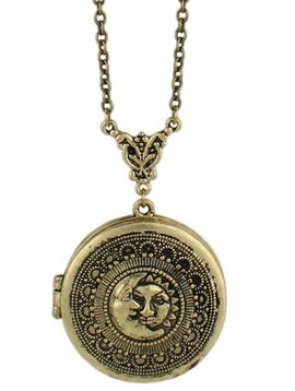 GCBLove Gold Sun & Moon Locket