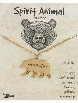 GCBLove Gold Bear Spirit Animal Necklace
