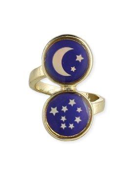 GCBLove Gold Moon & Stars Mood Ring