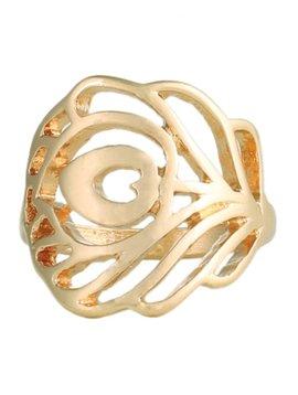 GCBLove Gold Cutout Peacock Ring