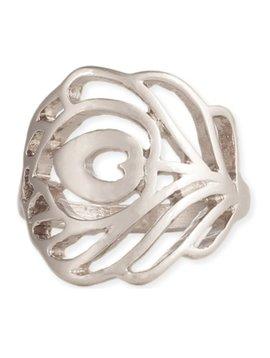 GCBLove Silver Cutout Peacock Ring
