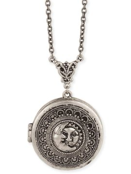 GCBLove Silver Sun & Moon Locket