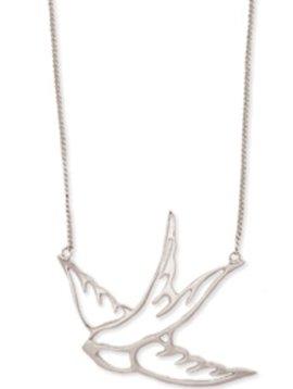 GCBLove Silver Cutout Bird Necklace
