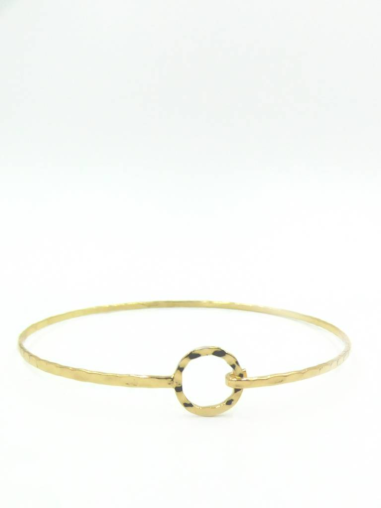 AAAAA Fashion Minimal Gold Plated Circle Bracelet
