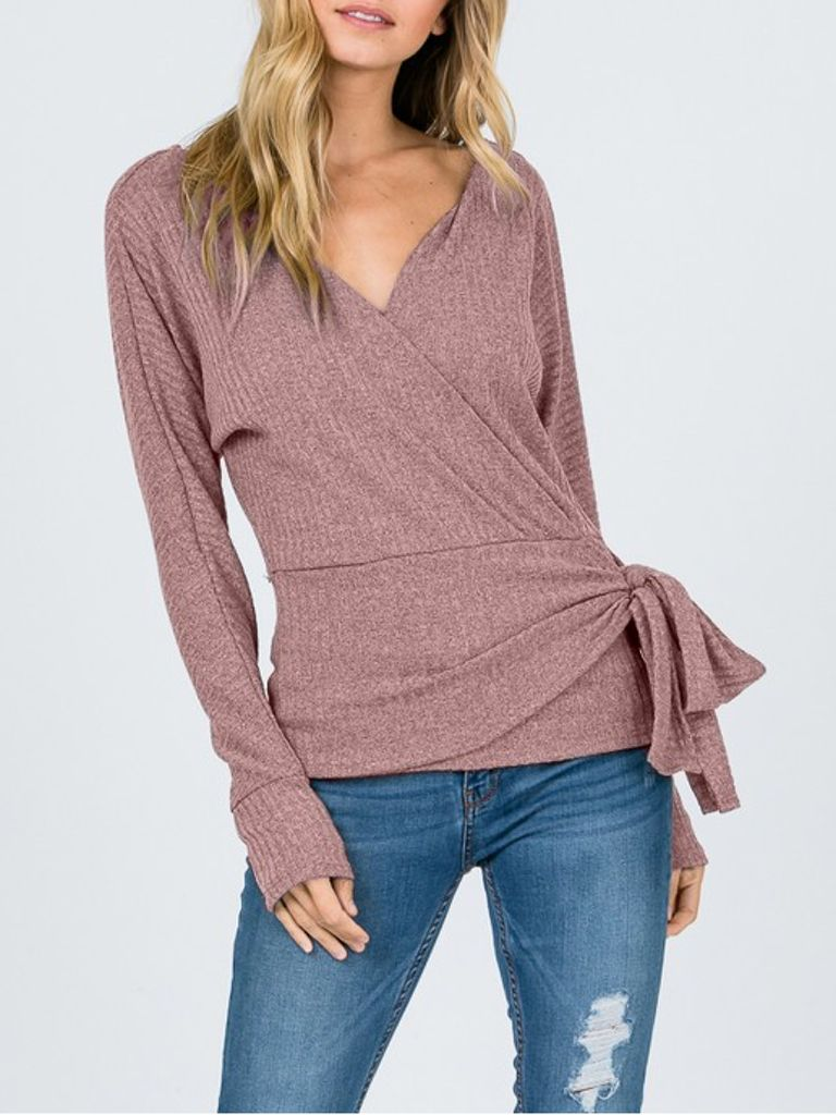 Fashionism Gold Dust Wrap Sweater