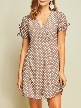 GCBLove Check It Wrap Dress