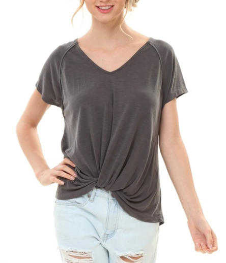 Pink Note Anabelle Front Twist Tee