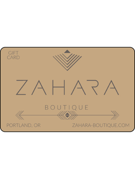Zahara Boutique $50 Gift Card<br /> **For use in our brick &amp; mortar stores only**