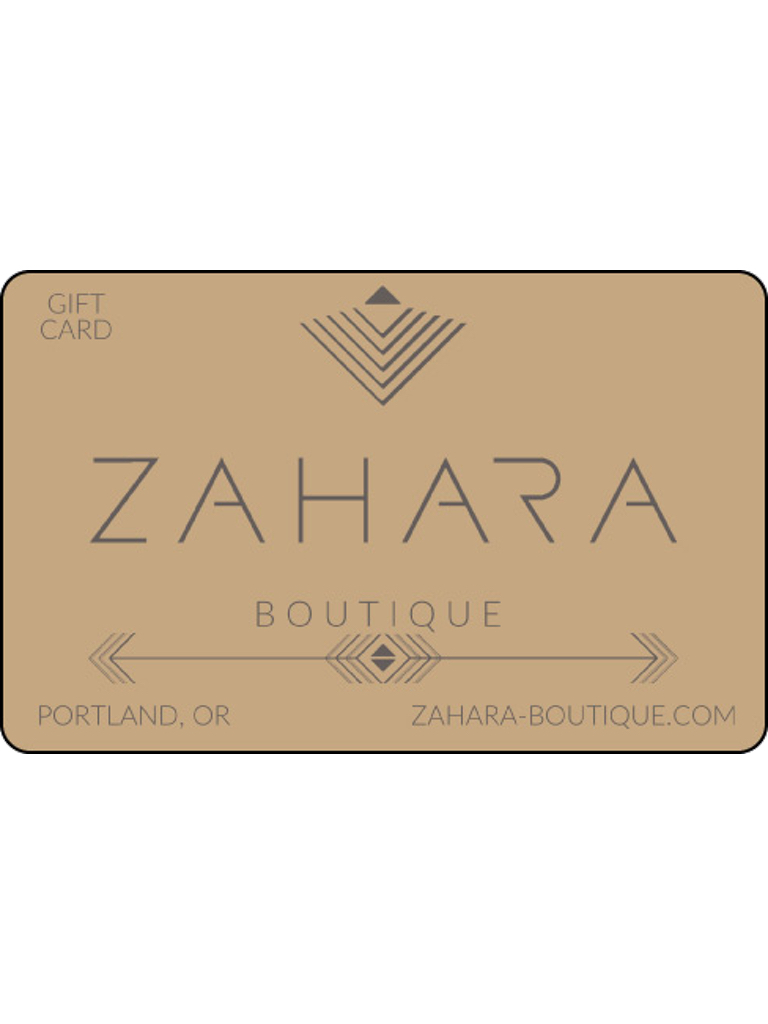 Zahara $75 Gift Card**For use in our brick & mortar stores only**