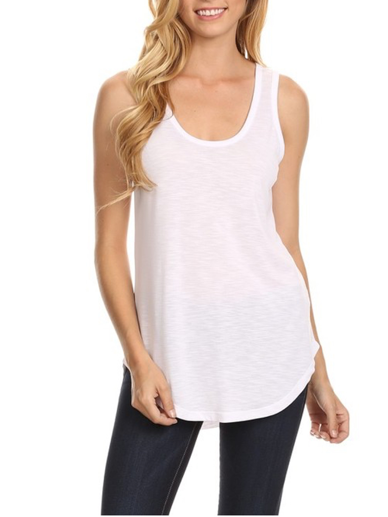 Pink Note Abby Basic Tank