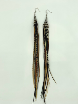 Bird Crap Earth Streamer Earrings