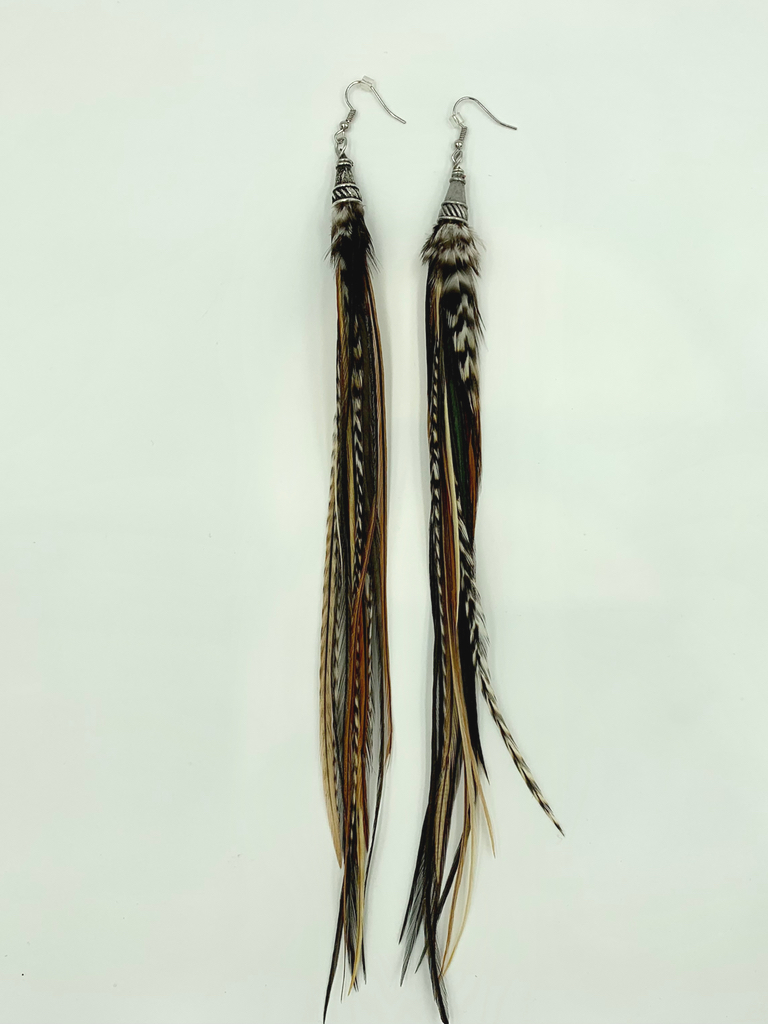 Bird Crap Earth Streamer Earrings