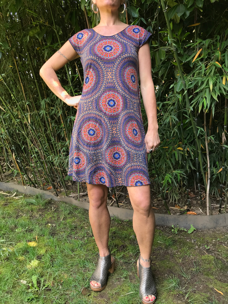 Zahara Open Flow Dress, Mystic Circles