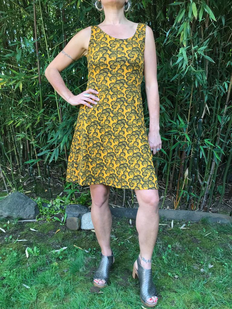 Zahara X-Back Dress, Little Florets