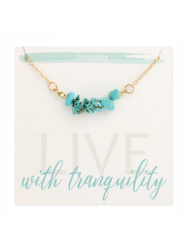 Zad Turquoise Chips Gold Necklace