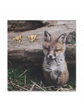 Zad Gold Fox Post Earring