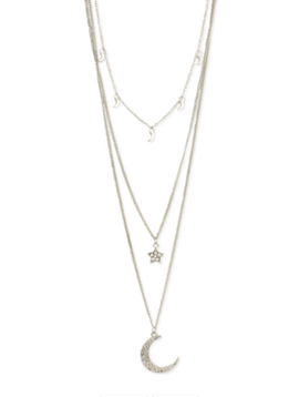 Zad Light of the Silvery Moon & Stars Necklace