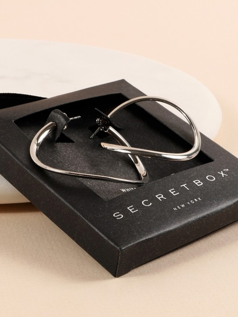 Secret Box Hoop Earrings