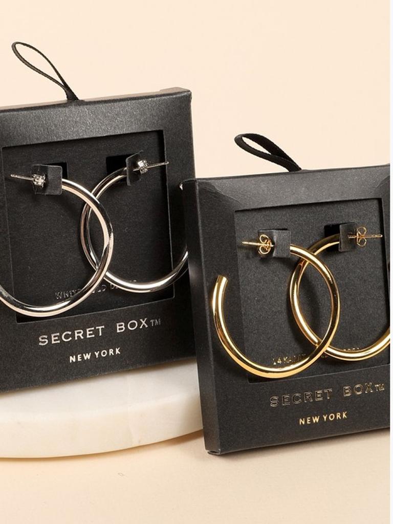 Avenue Zoe Secret Box Hoop Earrings