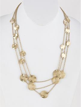 H & D Accessories Layered Coin Necklace