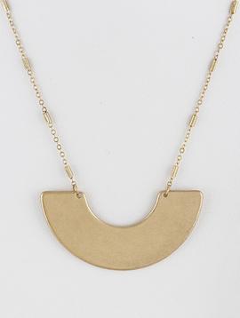 H & D Accessories Metal Half Circle Necklace
