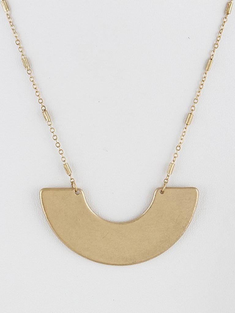 Metal Half Circle Necklace