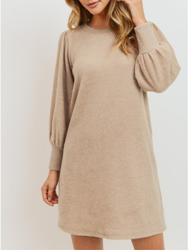 GCBLove Puffed Sleeve Knit Dress