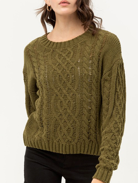 GCBLove Cable Knit Chenille Sweater