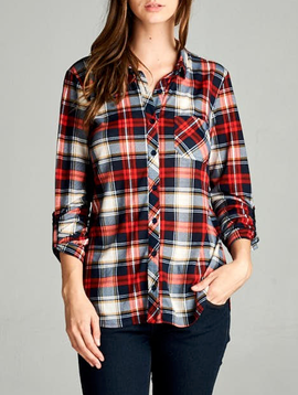 GCBLove Montana Plaid Top
