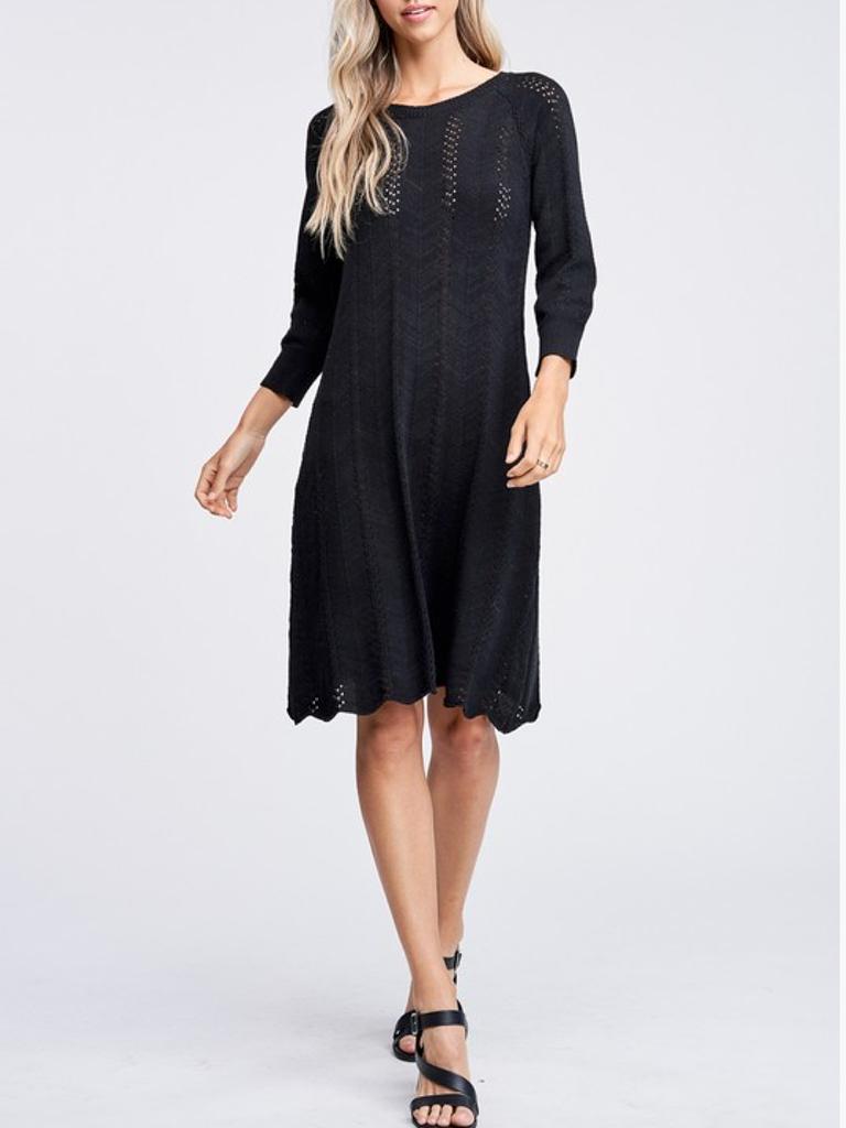 GCBLove Scalloped Sweater Dress